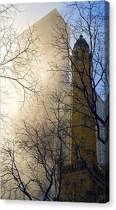 Canvas Print featuring the photograph Springtime In Chicago by Steven Sparks