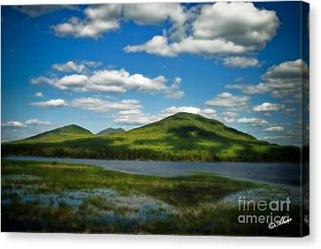 Canvas Print featuring the photograph Springtime In The Bigelow Mountains by Alana Ranney