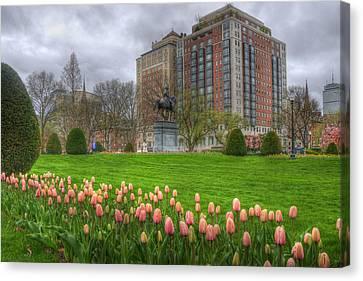 Spring Scenes Canvas Print - Springtime In The Public Garden - Boston by Joann Vitali