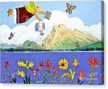 Springtime In The Rockies Canvas Print by Virginia Ann Hemingson