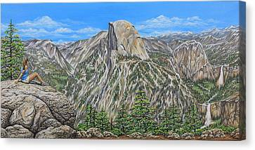 Springtime In Yosemite Valley Canvas Print