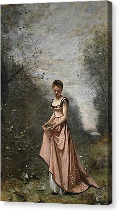 Springtime Of Life Canvas Print by Jean Baptiste Camille Corot