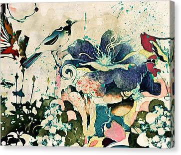 Springtime Ornamental Vintage Canvas Print by Georgiana Romanovna