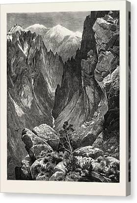Thomas Moran Canvas Print - Springville Canyon. Thomas Moran February 12 by American School