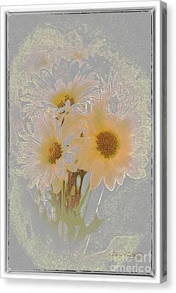 Sprinkled Daisies Canvas Print by Susan  Lipschutz