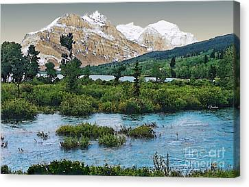 Spring In Glacier Park Canvas Print by Linda  Parker