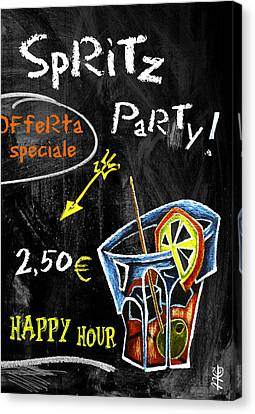 Spritz Party Happy Hour - Aperitif Venice Italy Canvas Print