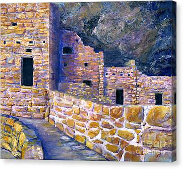 Spruce House At Mesa Verde In Colorado Canvas Print by Lenora  De Lude