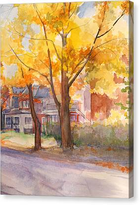 Spruce Street Maples Canvas Print