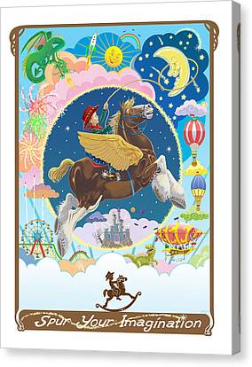 Spur Your Imagination Canvas Print