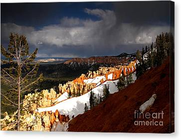 Squall Over The South Rim Canvas Print by Butch Lombardi