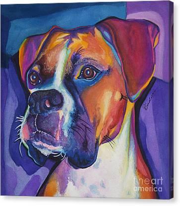 Square Boxer Portrait Canvas Print