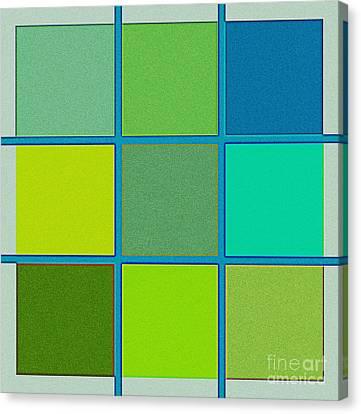 Squares - Green Canvas Print