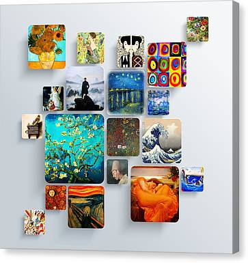 Squares Canvas Print by Celestial Images