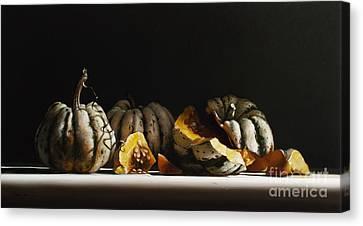 Squash Sweet Dumpling Canvas Print by Larry Preston