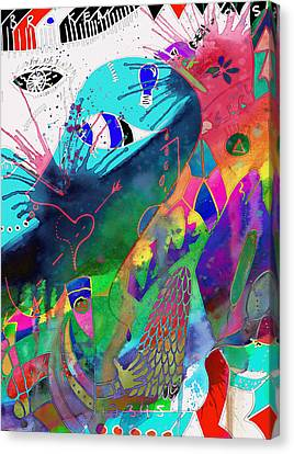 Squash The Squabble  Canvas Print