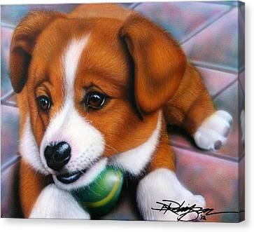 Squeaker Canvas Print by Darren Robinson