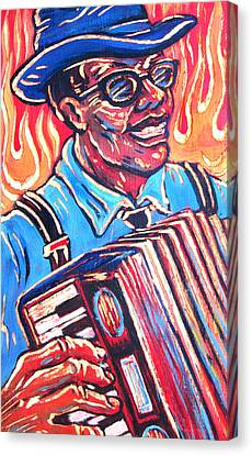 Squeezebox Blues Canvas Print by Robert Ponzio