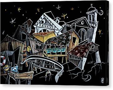 Squero Di San Trovaso - Regata Storica Di Venezia Canvas Print by Arte Venezia