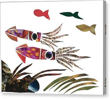 Squid Canvas Print by Earl ContehMorgan