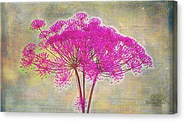 Squiggle Fun Pinked Canvas Print
