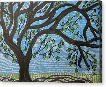 Squiggly Tree Canvas Print