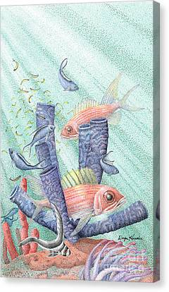 Squirrel Fish Reef Canvas Print by Wayne Hardee