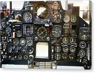 Sr-71 Blackbird Control Panel. Canvas Print by Mark Williamson