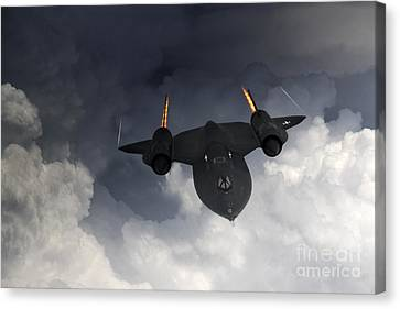 Sr-71 Blackbird Canvas Print by J Biggadike