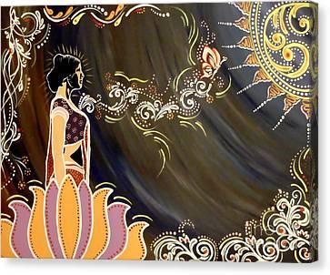 Goddess Durga Canvas Print - Sri Lalita by Meenakshi Malhotra