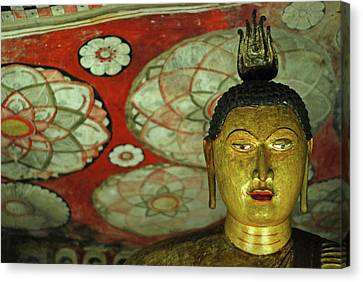 Sacred Artwork Canvas Print - Sri Lanka, Dambulla, Dambulla Cave by Stephanie Rabemiafara