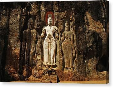 Sri Lanka, Ella, Dhowa Rock Temple Canvas Print