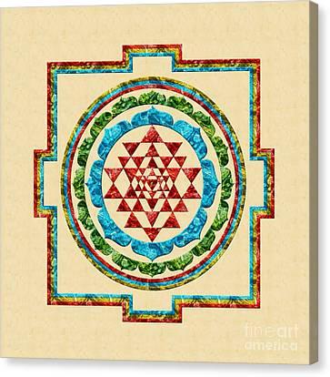Sri Yantra Canvas Print by Olga Hamilton