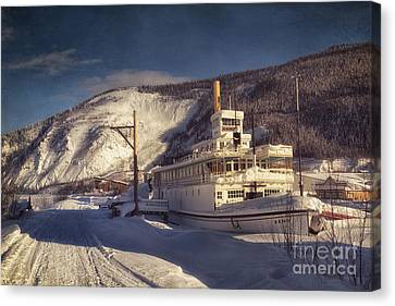 S.s. Keno Sternwheel Paddle Steamer Canvas Print
