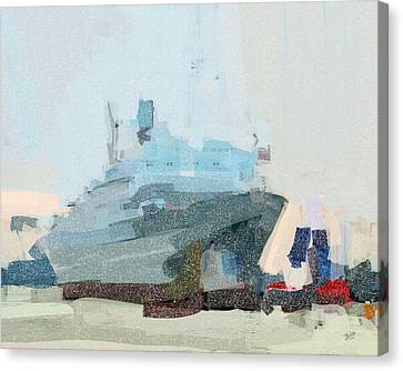 Canvas Print featuring the painting Ss Rotterdam by Nop Briex