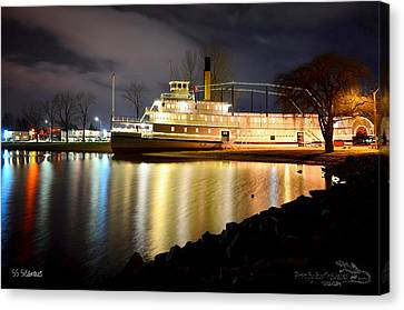 Ss Sicamous Steam Ship 1/21/2014  Canvas Print by Guy Hoffman