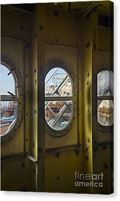 Ss Unites States Deck Windows Canvas Print by Jessica Berlin