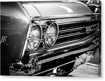 Ss396 Chevelle Black And White Picture Canvas Print by Paul Velgos