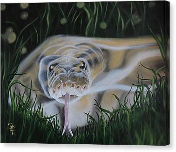 Canvas Print featuring the painting Ssssmantha by Dianna Lewis