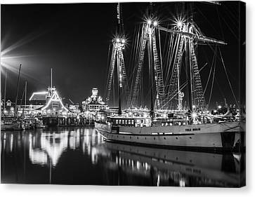Tall Ship Canvas Print - Ssv Tole Mour By Denise Dube by Denise Dube