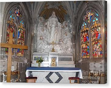 Canvas Print featuring the photograph St. Aignan Church Altar by Deborah Smolinske