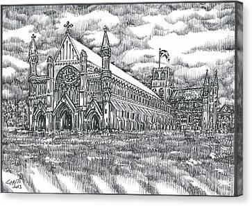 St Albans Abbey - England Canvas Print