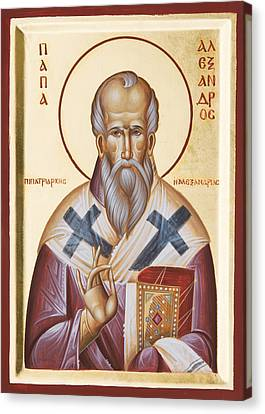 St Alexander Of Alexandria Canvas Print by Julia Bridget Hayes