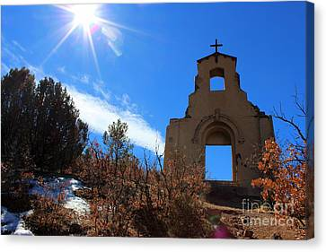 St Aloysius Mission On A Hill Canvas Print by Barbara Chichester