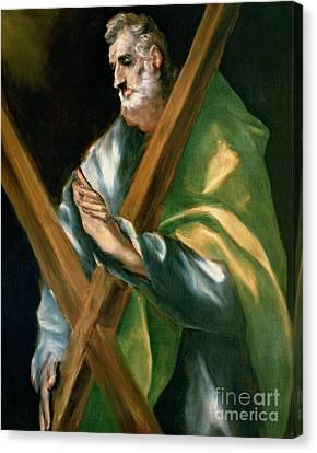 St Andrew Canvas Print by El Greco Domenico Theotocopuli
