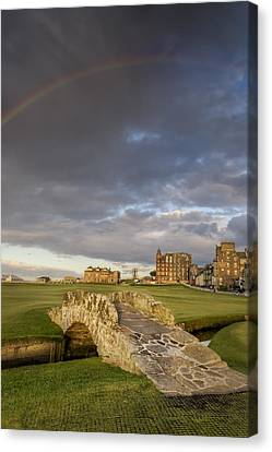 Bales Canvas Print - St Andrews Bridge by Chris Frost