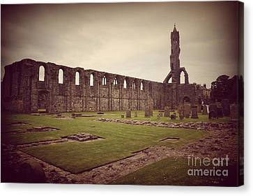 Tomb Canvas Print - St Andrews Cathedral by Miryam  UrZa
