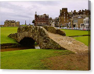 St. Andrews Links Golf Course Swilcan Bridge 18th Hole Canvas Print