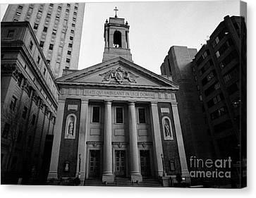 St Andrews Roman Catholic Church Civic Center New York City Canvas Print by Joe Fox