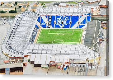 St Andrews Stadia Art - Birmingham City Fc Canvas Print by Brian Casey